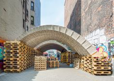 ETH Zurich designers create pavilion out of beverage cartons