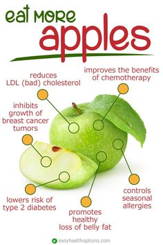 """The health benefits of apples – Easy Health Options® Apples are a """"miracle fruit"""" that everyone should be eating daily Calendula Benefits, Matcha Benefits, Benefits Of Coconut Oil, Blueberry Benefits, Strawberry Benefits, Fruit Benefits, Health And Nutrition, Health Tips, Health Fitness"""