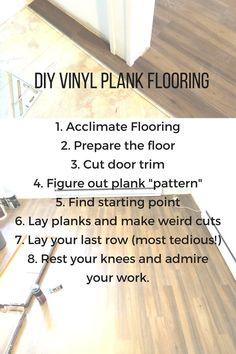 Vinyl Plank Flooring Tutorial: No Nails, No Glue. Vinyl Plank Flooring Tutorial: No Nails, No Glue. – The Stone Head Laying Vinyl Flooring, Installing Vinyl Plank Flooring, Vinyl Flooring Kitchen, Linoleum Flooring, Floors, Kitchen Vinyl, Kitchen Decor, Best Flooring, Diy Flooring