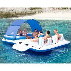 Aufblasbares Party-Boot Der Hit an heißen Tagen: Das aufblasbare Party-Boot für bis zu 6 Personen.
