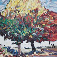 """David Grieve, Bunchy 3, 30"""" x 30"""", oil on canvas"""