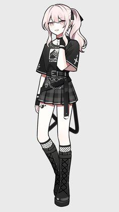 Anime Girl Dress, Manga Anime Girl, Cool Anime Girl, Kawaii Anime Girl, Blonde Anime Girl, Cute Kawaii Girl, Anime Oc, Drawing Anime Clothes, Anime Girl Drawings