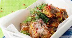 Tuorejuustolla täytetyt silakkapihvit maistuvat muussin kanssa. Jos käytät pakastettuja silakkafileitä, sulata ne jääkaapissa yön yli. Koti, Tandoori Chicken, Food And Drink, Turkey, Meat, Ethnic Recipes, Turkey Country
