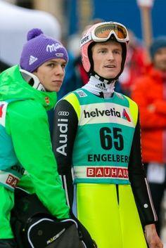 Severin Freund und Stefan Kraft beim FIS Skispringen Welt Cup in Engelberg / Schweiz | Bildjournalist Kassel http://blog.ks-fotografie.net/pressefotografie/fis-skispringen-engelberg-schweiz-fotografiert/