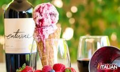 Triple Berry Sangria Ice Cream ... Boozy and fruity and refreshing at the same time!
