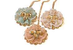 Lace and gold Bridal jewelry