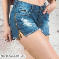 Shorts com detalhe em zíper lateral: É cool é Gdoky! ;) #Gdokyjeans #Trendy #Bestchoice