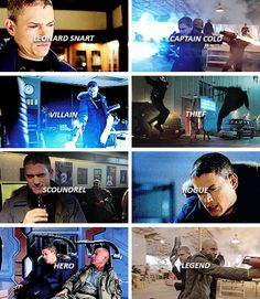 """My name is Leonard Snart and I'm a criminal."" #CaptainCold #LegendsofTomorrow"