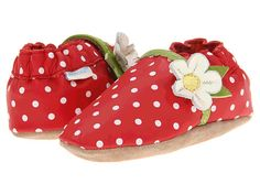 Robeez Strawberry Soft Soles (Infant) at Zappos.com.. inspiration