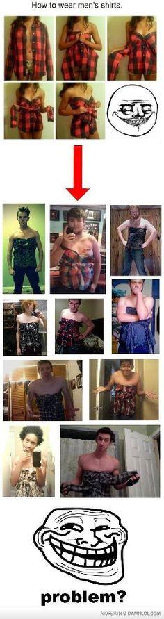 shirt to dress !    9gag.com