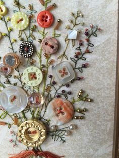 Antique Button Art
