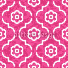 Pink Lady Morocco designed by Michael Bayquen, vector download available on patterndesigns.com