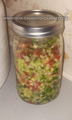 Our Canning Cabinet: Crisp Cucumber Salsa