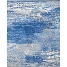 Safavieh Adirondack Modern Abstract Silver/ Blue Rug (8' x 10')