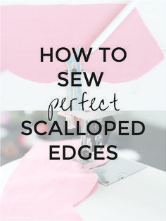 How to Sew Perfect Scallops | Sewing Scalloped Edges | Radiant Home Studio