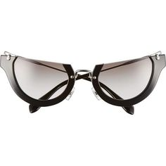 9eac31e101b Miu Miu Noir Semi-Rimless Cat-Eye Sunglasses as seen on Rihanna Cat Eye