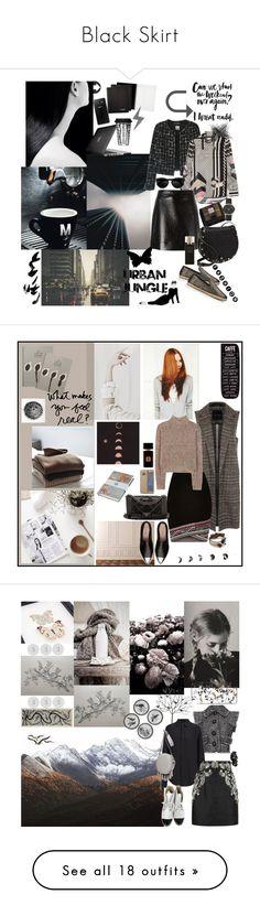 """Black Skirt"" by mariettamyan ❤ liked on Polyvore featuring Chanel, Preen, MICHAEL Michael Kors, UGG Australia, Speck, Rebecca Minkoff, Samsung, Marc Jacobs, Robert Piguet and Dot & Bo"