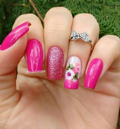 21 modelos de unhas com flores gostou dos modelos de unhas com. Acrylic Nail Designs, Nail Art Designs, Acrylic Nails, Design Art, Spring Nails, Summer Nails, Cute Nails, Pretty Nails, Hair And Nails