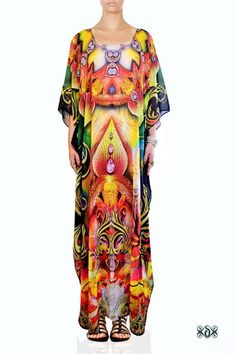 Digital print Designer Kaftan Embellished Dress
