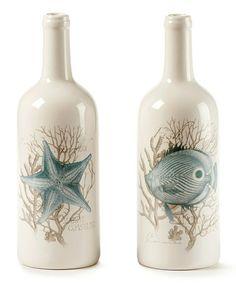 Love this Ceramic Bottle Shape Vase - Set of Two on #zulily! #zulilyfinds