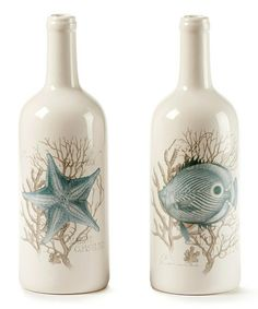 This Ceramic Bottle Shape Vase - Set of Two is perfect! #zulilyfinds
