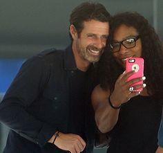 Serena Williams and her boyfriend Patrick Mouratoglou