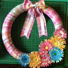 Dollar Tree pool noodle transformed....into my wreath.
