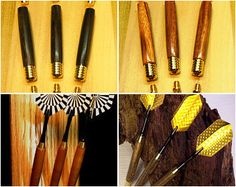 Hand turned - Darts - Exotic Wood, custom weight, precision turned competition darts (set of 3)
