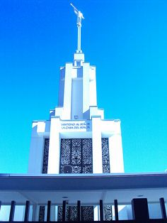 Templo de Santiago de Chile.  Berenice Elena Cuevas Cabrera Rama Frutillares - Estaca Penco Chile Lds Temples, Latter Day Saints, Willis Tower, Jesus Christ, Building, December, Diy, Temple Pictures, Santiago