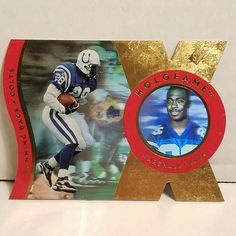 Marshall Faulk Football Card 1997 SPx Holofame Indianapolis Colts HOF Insert #IndianapolisColts #forsale #marshallfaulk #footballcard #SPx #NFL #Ebay #colts #indianapoliscolts #sportscard #cardcollector #vintage #HOF #indy http://ow.ly/PLEp309miKY
