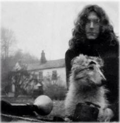 "Robert Plant & ""his blue eyed Merle"" his dog Strider"