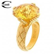 Дамски пръстен на марката JUST CAVALLI  Оригинален продукт с гарантиран произход и качество  Оригинално  лого на марката  Сертификат за автентичност, Оригинална кутия  Материал: стомана  Цвят:  златист  Срок на доставка - до 2 работни  дни