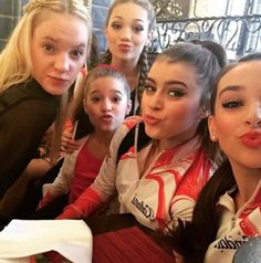 Addy with Maddie, Kalani, Kendall and Kenzie! She also came to support them and danced with them a few days ago.