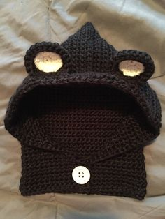 Hooded Cowl Neck Hat by Kraftybea on Etsy