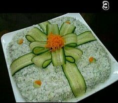 Bento Tutorial, Calming, Food Art For Kids, Food G - Food Carving Ideas Food Carving, Good Food, Yummy Food, Awesome Food, Vegetable Carving, Food Garnishes, Garnishing, Food Platters, Meat Trays