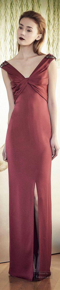 Jenny Packham.Pre-Fall 2015. | marsala wedding | marsala bridesmaid dress  (again, color not dress)