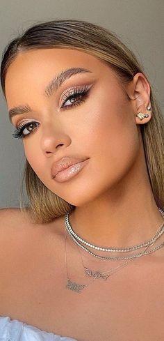 Ball Makeup, Prom Eye Makeup, Natural Prom Makeup, Glam Makeup Look, Bridal Makeup Looks, Blue Eye Makeup, Wedding Hair And Makeup, Pretty Makeup, Makeup Looks For Prom