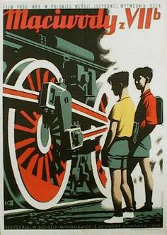 designer: Sopocko Konstanty Maria poster title: Maciwody z VII b year of poster: 1954