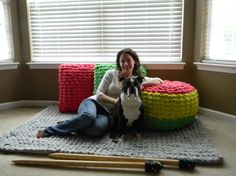 The Freedom Sand Pouf pattern - Pattern Only - permission to sell what you make