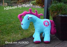 Ebooks & Anleitungen - Aleksio eBook Einhorn (Pony) - in zwei Größen - ein Designerstück von Aleksio bei DaWanda  #Pferd #Pony #horse