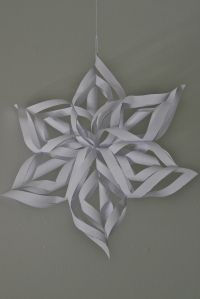 Paper snowflake decor - this is the closest we get to seeing snowflakes unless there is a freak weather condition :-)