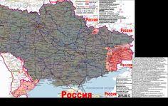 2015.08.13 Военно-гуманитарная карта Новороссии и Малороссии. Карта по состоянию на вечер 13 августа 2015 года.