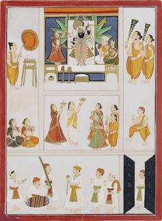 Sri Nath-Ji worshipped by devotees Nathdwara, circa 1830