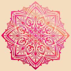 """MANDALA II Stretched Canvas,"" by PΔRMEETBIRDI on Society6 ~ Mandala tattoo idea"