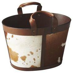 Andreas Cowhide Storage Basket
