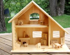 New Kids Furniture Diy Couch Doll Houses Ideas Wooden Dollhouse, Wooden Dolls, Diy Dollhouse, Dollhouse Furniture, Fairy Houses, Play Houses, Doll Houses, Wooden Crafts, Wooden Diy