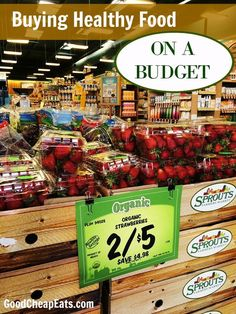 Buying healthy food on a budget is possible! You don't have to relegate yourself to cheap, processed items. You do need to shop wisely. Here's how.  Buying Healthy Food on a Budgethttp://goodcheapeats.com/2016/04/healthy-food-budget/