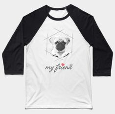 My Pug Friend, an artwork for pug lovers or dog lovers. Pet Lovers, Pugs, Artwork, Fashion, Moda, Work Of Art, Auguste Rodin Artwork, Fashion Styles, Artworks