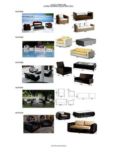 Synthetic Rattan Wicker Living Lounge   LEOLA FURNITURE Outdoor Furniture  Manufacturer From Bali, Indonesia