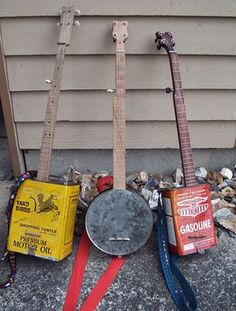Hello, my name is Ben, and I make homemade instruments out of nearly all recycled materials. Banjo, Instrument Craft, Ukulele Instrument, Guitar Chords, Homemade Musical Instruments, Music Instruments, Indoor Crafts, Bluegrass Music, Cigar Box Guitar